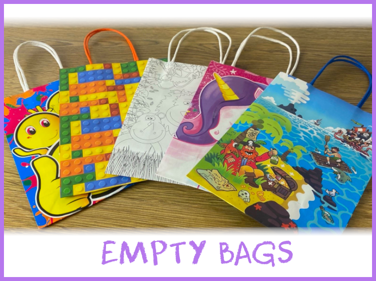 Empty party bags